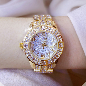Image 3 - Women Watches Diamond Gold Watch Ladies Wrist Watches Luxury Brand Rhinestone Womens Bracelet Watches Female Relogio Feminino