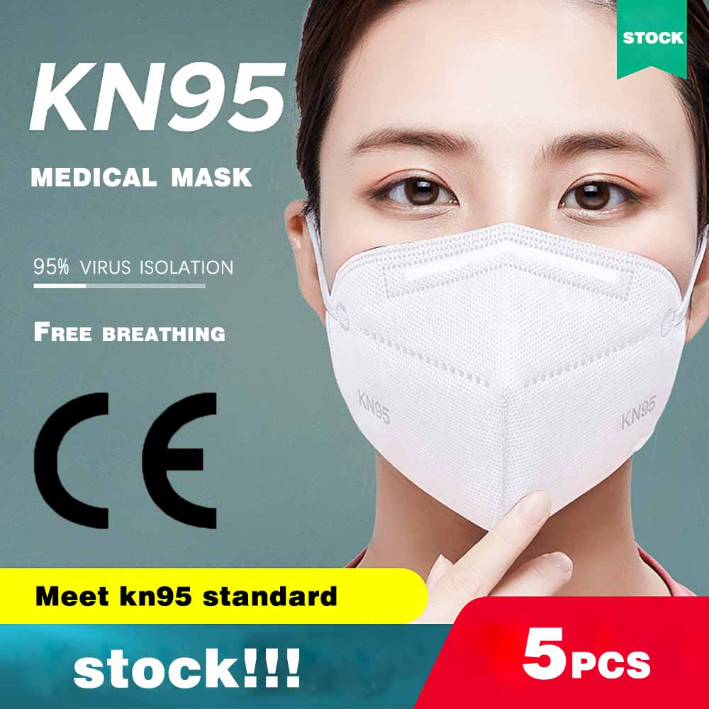 Disposable Mask  KN95 Bacteria Proof Flu And Dustproof Anti-fog  Breathable Cotton Face Masks 95% Filtration N95 Masks As FFp2