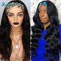 Rosabeauty Glueless 13х4 кружевные передние человеческие волосы парики бразильские Волнистые Короткие фронтальные парики для черных женщин 28 30 дюймо...