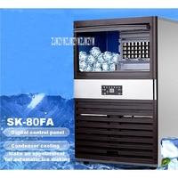 Kommerziellen Große Tee Shop Bar KTV Hause Automatische Kleine Platz Ice Maschine 100kg 220 V/110 V 430W SK-80FA