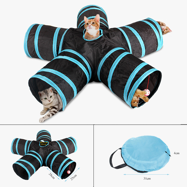 5/4/3Holes Pet Cat Tunnel Funny Toys for cats Foldable Cat Toys Interactive Cat Rabbit Animal Play Games Toy cat Pet Products