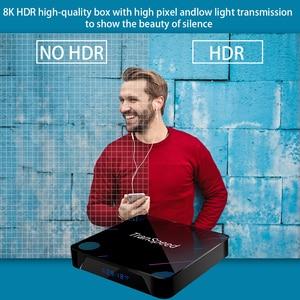 Image 4 - transpeed 8K Android 10.0 TV Box 1000M wifi Bluetooth 4.1 Amlogic S905X3 Dual Wifi 1080P 4 Youtube Set Top Box Google Voice