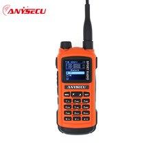 Anysecu AC 580 Bluetooth מכשיר קשר מקצועי ספורט רדיו VHF 136 174MHz UHF 400 520MHz 5W רדיו תחנת GP8800