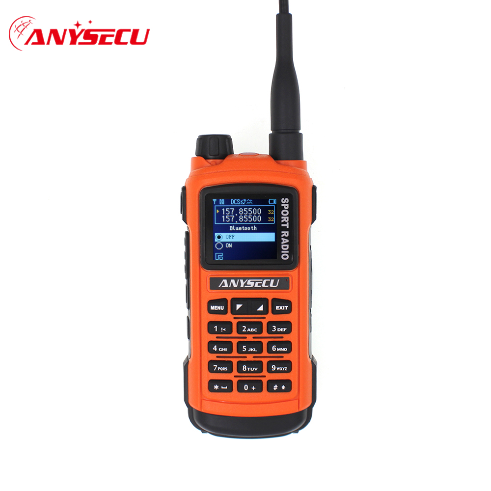 Anysecu AC-580  Bluetooth Walkie Talkie Professional Sports Radio VHF 136-174MHz UHF 400-520MHz 5W Radio Station GP8800