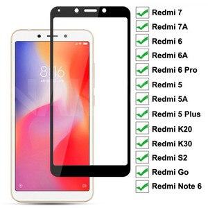 9D полное покрытие закаленное стекло для Xiaomi Redmi 7 7A 6 Pro 6A 5 Plus 5A K20 K30 S2 Go Note 6 Pro защита экрана защитное стекло