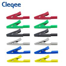 Cleqee P2009 6Colors Full Insulated Crocodile clip connect 2mm Banana Female Adapter Test Probe Alligator Clip