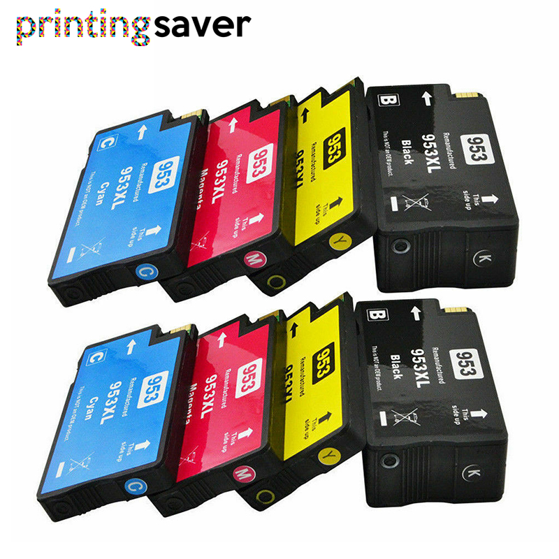 8PK Compatible Ink Cartridge 953 953XL For HP Pro 7740 8210 8218 8710 8715 8718 8719 8720 8725 8728 8730 8740 Printer For Hp953
