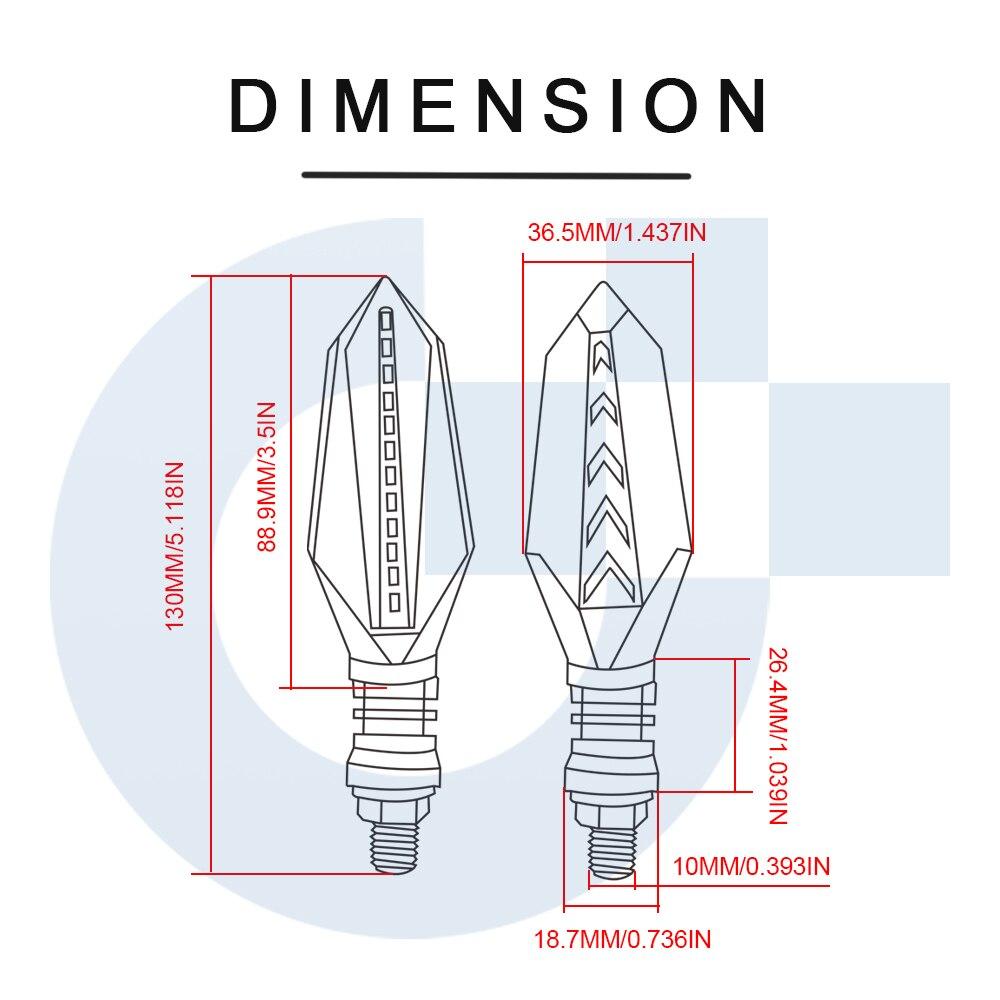 Image 5 - Universal Motorcycle turn signals led lamps Lights Lamp For Honda hornet 250 Hornet 600 Hornet900 CrossRunner800 Crosstourer1200