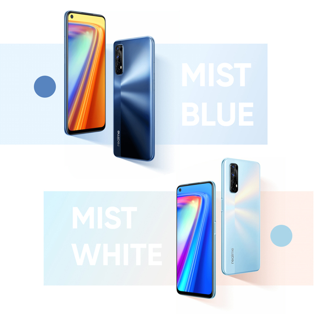 Realme 7 Global Version Cell Phones Unlocked 30W Fast Charge Smartphone 8GB RAM 128GB ROM Mobile Phones Helio G95 Gaming Phone 6