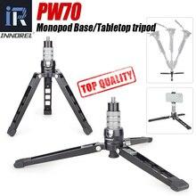 PW70 Mini Tripod Monopod standı tabanı DSLR kamera için Gopro cep telefonu montaj Metal esnek masaüstü masaüstü Tripode topu kafa ile