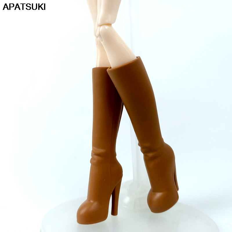 Brown Fashion Doll Shoes For Monster High Doll High-heel Shoes Boots For Ever After High 1/6 Monster Dolls Accessories