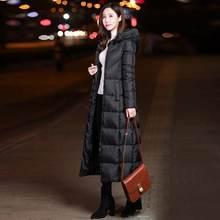Новый m 4xl чёрные однотонные удлинённые пальто Зимние для женщин