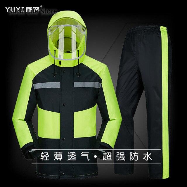 Raincoat Rain Pants Suit Men Adult Motorcycle Waterproof Rain Coat Jacket Mens Sports Suits Rainwear Casaco Masculino Gift Ideas 3
