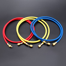 цена на 3Pcs 400PSI 800PSI Charging Hoses 60 1/4 SAE Shut Valve R410A R134A R12 R22 R502 Air-conditioning Valve Hose For Refrigerant