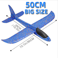 Большой самолет из пеноматериала планер ручная пледы самолет игрушка-планер модели самолетов инерционная EPP на открытом воздухе запуск дет...