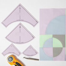 Quilting Ruler Crazy Curves templates for low shank domestic sewing machine # 1 set = 4pcs(2big and 2 small) #CC7AB+EBD01