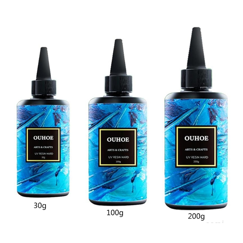 30/100/200g Ultraviolet Resin Hard Glue Curing UV Gel DIY Jewelry Crafts Making Coating Accessories