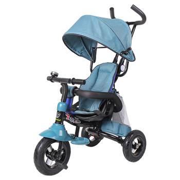 Three Wheels Stroller Children's Foldable Tricycle Bicycle Baby Stroller Folding Trolley Trike