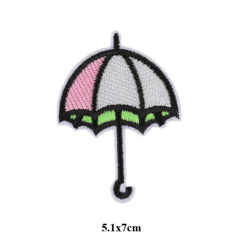 אוויר חם בלון ענן תיקוני בגדי קשת ברזל על רקום לתפור Applique חמוד תיקון בד תג בגד DIY ביגוד