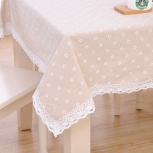 Cotton linen tablecloth, fabric table cloth, simple cloth rectangular coffee table cloth tablecloth цена
