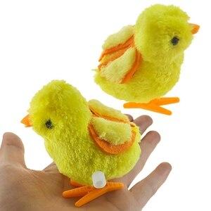 1 шт., милая плюшевая игрушка-симулятор ветра, обучающая игрушка для детей, прыгающие по часовой стрелке цыплята, игрушки для детей, забавная ...