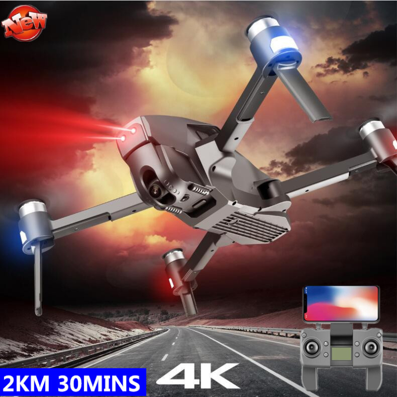 Brushless GPS Intelligent Follow Me WIFI FPV RC Drone 5G 2KM 30MINS ESC Adjust Camera Foldable Racing RC Quadcopter VS SG906