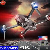 Sin escobillas GPS inteligente Me sigue WIFI FPV Drone RC Drone 5G 2KM 30 minutos CES ajustar la cámara plegable RC Racing Quadcopter del SG906