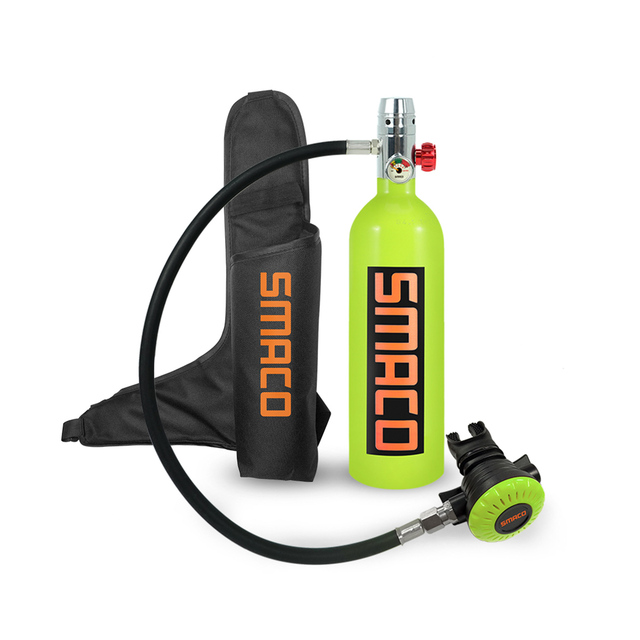 1 litres Scuba Diving Underwater Oxygen Cylinder Mini Scuba Dive Cylinder with 20 Minutes Capability SMACO S400 Pressure/& Corrosion Resistant Material with Refillable Design