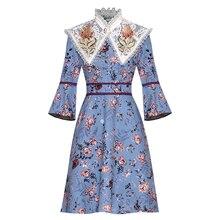 весна-осень; платье рукавами цветочным