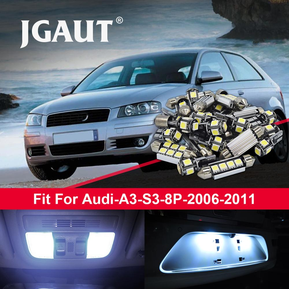 For 2009 2010 2011 2012 Audi A4 LED Lights Interior Package Kit WHITE 16PCS
