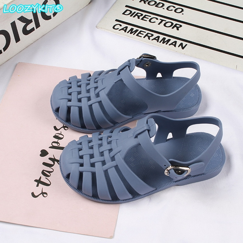 2021 Kids Sandals Baby Girls Toddler Soft Non slip Princess Shoes Candy Jelly Beach Shoes Boys Casual Roman Slippers CHECK SIZE