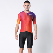 LUBI Men Cycling Jersey Set Clothing Bib Shorts Kit Suit Pro Summer Wear Bicycle High Density Sponge Pad MTB Clothes Bike Road