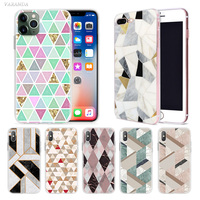 case iphone 5 Geometric Marble Case for Apple iphone 11 Pro X XS Max XR 7 8 6 6S Plus + 5 S SE 5C Silicone Carcasa Phone Coque Cover (1)