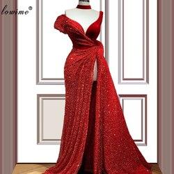 Большие размеры, красные платья знаменитостей в Дубае, 2020, винтажное платье русалки с красной ковровой дорожкой, платья на выпускной в арабс...