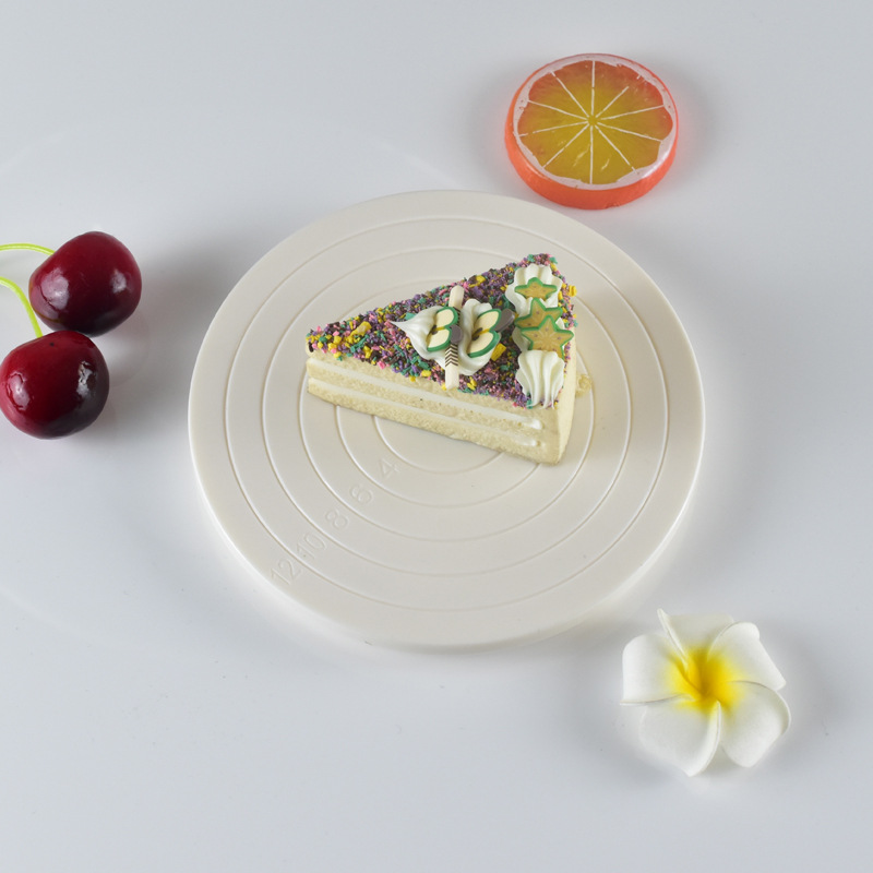 360 Degree 14cm Mini  Rotating Revolving Cake Turntable Cake Cookies Decorating Elegnt Manually Table Cake Stand Non-Slip Base