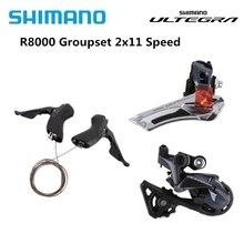 Shimano ULTEGRA R8000 22 Speed Trigger Shifter + Derailleur ด้านหน้า + ด้านหลัง Derailleur SS GS Groupset Update จาก 6800