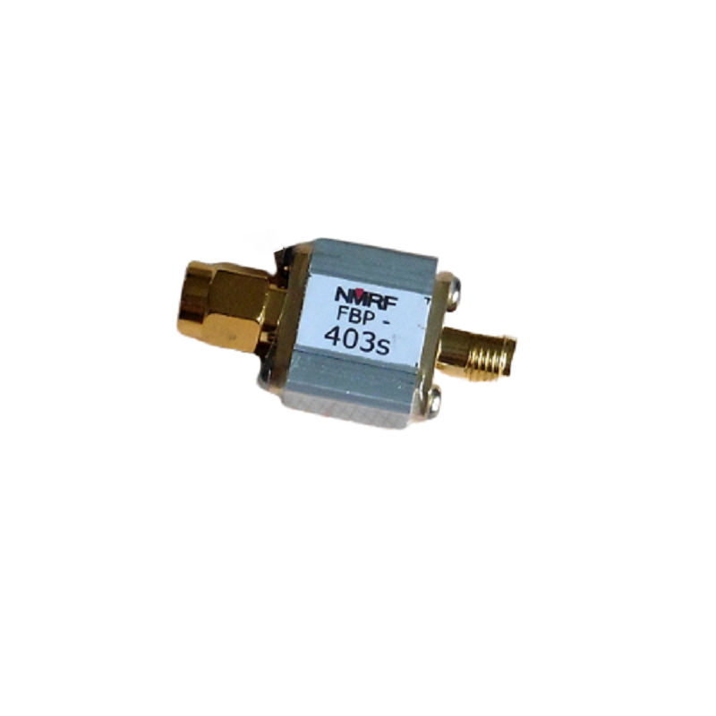 FBP-403s  403 MHz SAW bandpass filter with 4 MHz bandwidth