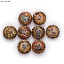 50 шт. тема жизни основной цвет круглые деревянные пуговицы для шитья скрапбукинга одежда подарки ремесла ручной работы аксессуары 15 мм