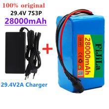 7s3p 24 V 18650 batería de iones 29,4 V 28000 MAH batería para E-bicicleta Moto/eléctrico/batería de iones pack (con cargador)