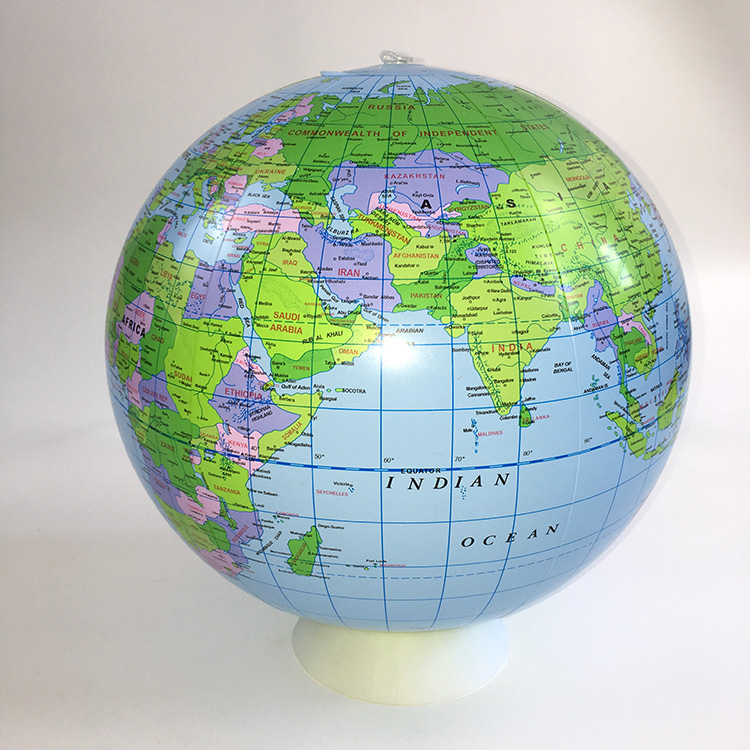 Inflatable World Globe Teaching Aids Education Geography Toy Map Balloon Beach Ball Kids Gifts Family Educational 40cm