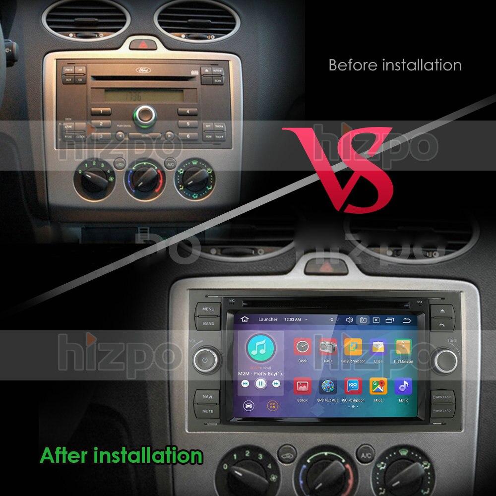IPS Android 10 Octa 8 Core 4G + 64G In Dash Auto DVD Player Für Ford Mondeo Fokus transit C-MAX GPS Navi Radio Unterstützung 4G LTE BT PC