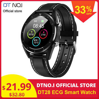 Hot Sale DTNO.I DT NO.1 DT28 ECG Detection Heart Rate Monitor Smart Watch IP68 Waterproof Activity Fitness Track Blood Pressure - DISCOUNT ITEM  38% OFF All Category