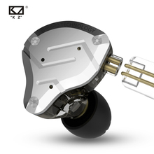CCAKZ ZS10 פרו באוזן אוזניות מתכת 4ba + 1dd היברידי 10 יחידות Hifi בס אוזני צג אוזניות ספורט רעש ביטול 2pin