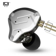 CCAKZ ZS10 PRO 이어폰 헤드셋 금속 4ba + 1dd 하이브리드 10 개 Hifi Bass Ears 모니터 이어폰 스포츠 소음 차단 2pin