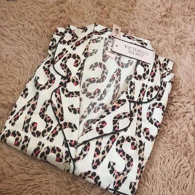 Halosweet Slik Pajamas Short Sleeves Sleepwear Two Pieces Satin High Quality Home Clothes For Women Female Pyjamas Summer Suit|Pajama Sets| - AliExpress