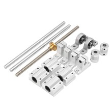 15Pcs 400Mm Optical Axis Guide Bearing Housings Linear Rail Shaft Support Screws Set(China)