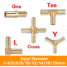 Brass Fitting Copper Pagoda Connector Pipe Fittings 2 3 4 Way Straight/L/Tee/Y/Cross 4/5/6/8/10/12/16/19mm For Gas/Water Tube