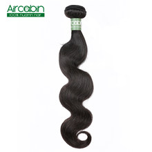 "Aircabin Brazilian Body Wave 100% Human Hair Bundles Weaves Remy Hair Extensions Natural Color 8""-26"" Inches 1/3/4 Pieces /Pack(China)"
