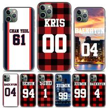 Case Coque Voor Apple Iphone X Xr Xs Max 11 Pro Max 7 8 Plus 7 + 8 + 5 5S Se 6 6S Plus Fundas Capa Exo Nummer Bos Items(China)