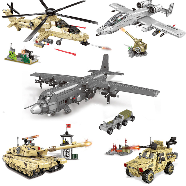 XINGBAO Новый 06021 06026 WW2 Военная Боевая серия самолет, танк, вертолет, бронированный автомобиль, набор строительных блоков кубики MOC Jugetes